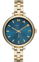 Marc By Marc Jacobs Womens Sally Gold Ion-plated Stainless Steel Bracelet Watch 36mm - Lyst