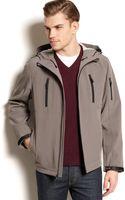 Calvin Klein Hooded Shoftshell Jacket - Lyst