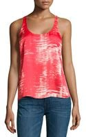 BCBGMAXAZRIA Edita Brushstrokeprint Twisted Back Top - Lyst