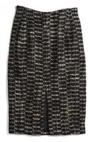 Coach Tweed Split Front Skirt - Lyst