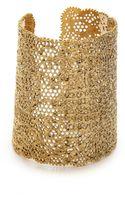 Aurelie Bidermann Vintage Lace Cuff Gold - Lyst