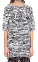 Pixie Market Joanna Fringe Sweater Dress - Lyst