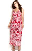 Inc International Concepts Plus Size Printed Empirewaist Maxi Dress - Lyst