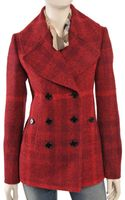 Burberry Check Coat - Lyst