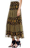 Ella Moss Marigold Silk Maxi Skirt - Lyst