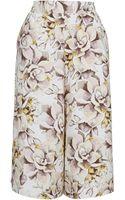 Topshop Floral Print Culottes - Lyst
