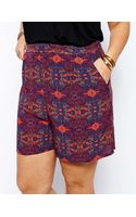 Asos Curve Exclusive Tailored Short in Festival Print - Lyst