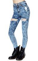 Nasty Gal Flash Mob Skinny Jeans - Lyst