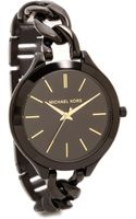 Michael Kors Midnight Safari Slim Runway Twist Watch Black - Lyst