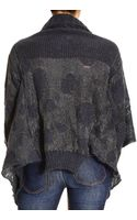 Manila Grace Sweater Cardigan Shawl Collar Asymmetric Lurex - Lyst