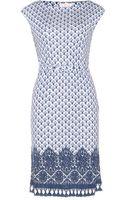 Tory Burch Jamie Printed Stretch Dress - Lyst