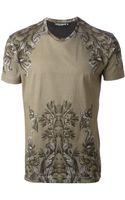 Dolce & Gabbana Flock Print Tshirt - Lyst