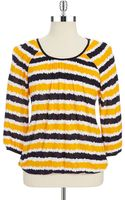MICHAEL Michael Kors Striped Top - Lyst