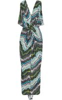 T-bags Printed Stretchjersey Maxi Dress - Lyst