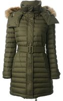 Burberry Brit Hooded Padded Coat - Lyst