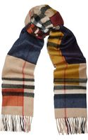 Burberry Shoes & Accessories Checked Cashmere Scarf - Lyst