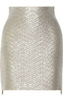 Antonio Berardi Metallic Brocade Skirt - Lyst