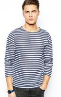 Asos Stripe Long Sleeve Tshirt - Lyst