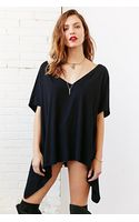 Truly Madly Deeply Double-v Raw-edge Tunic Top - Lyst