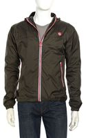 Superdry Hooded Zip Rain Jacket Army - Lyst