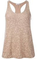 Brunello Cucinelli Sequined Tank Top - Lyst