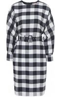 MSGM Check Belt Dress - Lyst