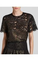 DKNY Metallic Floral Lace Tee Bloomingdales Exclusive - Lyst