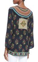 Tolani Zoe Printed Silk Tunic - Lyst