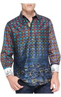 Robert Graham Palladium Striped Jacquard Sport Shirt - Lyst