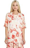 BCBGeneration Floral Printed Tee - Lyst