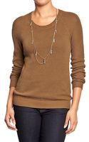 Old Navy Textured Knit Raglan Sleeve Sweaters - Lyst