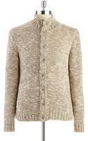 Calvin Klein Chunky Marled Buttondown Sweater - Lyst