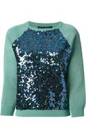 Marc By Marc Jacobs Embellished Sequin Sweater - Lyst