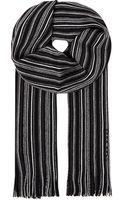 Hugo Boss Striped Wool Scarf - Lyst