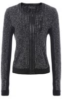 Rag & Bone Leather Trim Paula Jacket - Lyst