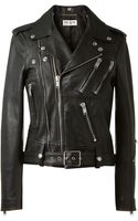 Saint Laurent Black Leather Biker Jacket - Lyst