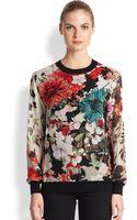 Roberto Cavalli Silk Floralprint Blouse - Lyst