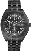 Guess Mens Black Ion-plated Bracelet Watch 46mm - Lyst