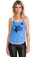See By Chloé Tank with Stardust Print in Baby Blue - Lyst