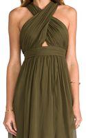 Alice + Olivia Alice Olivia Caldwell Wrap Bodice Tulip Dress in Army - Lyst