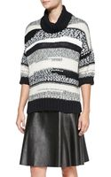 10 Crosby Derek Lam Loose Striped Knit Turtleneck Sweater - Lyst