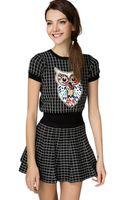 Pixie Market Night Owl Bejeweled Two Piece Dress Set - Lyst