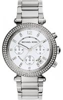Michael Kors Parker Silvertone Stainless Steel Watch - Lyst