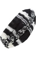 Missoni Black and White Braided Knit Turban - Lyst