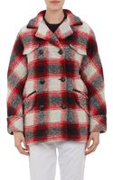 Etoile Isabel Marant Plaid Double Breasted Gael Jacket - Lyst