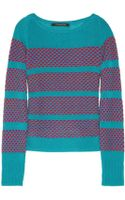 Thakoon Striped Wool and Cashmereblend Sweater - Lyst