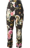 Dolce & Gabbana Floral Animal Print Trousers - Lyst
