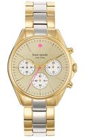 Kate Spade Ladies Seaport Twotone Chronograph Watch - Lyst