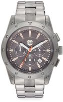 Andrew Marc Stainless Steel Screw-bezel Chronograph Watch - Lyst