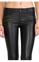 Free People Skinny Vegan Leather Pant in Black - Lyst